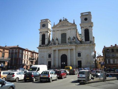 Montauban Cathedral, where Mgr Théas denounced the raids