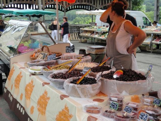 SW France summer market stall