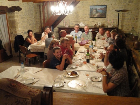 Teysseroles team enjoying a post-fête bouffe