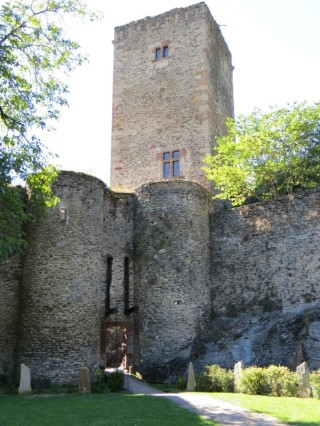 Belcastel château with drawbridge