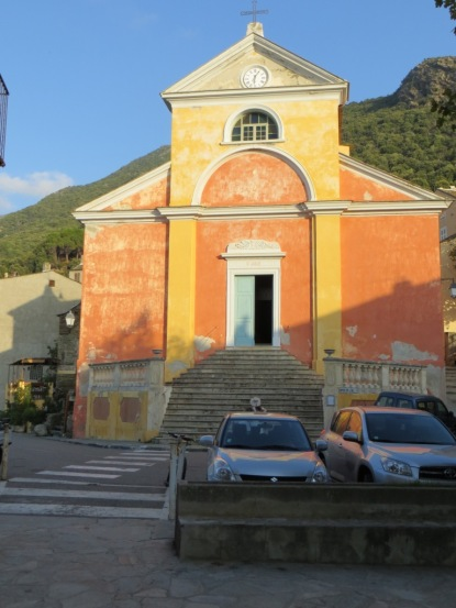 Beautiful little church at Nonza on Cap Corse