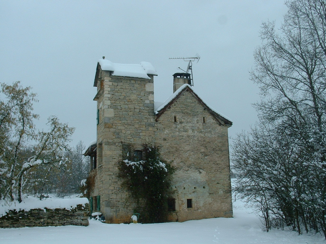 Our house in the snow - not like that today