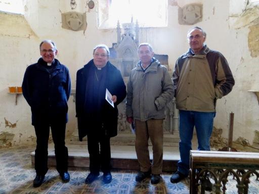 L to R: Père Serge, Mgr Ginoux, the SF, Alain Vignes Assoc President
