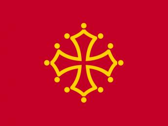Occitan flag - also the symbol of the Midi-Pyrénées Region