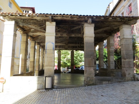 Market hall at Saint-Antonin