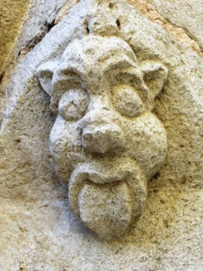 Saint-Antonin - one of many stone carvings in the town