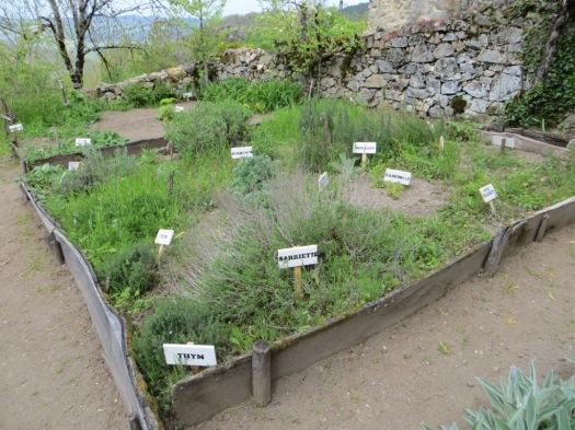 Medieval garden at Peyrusse-le-Roc