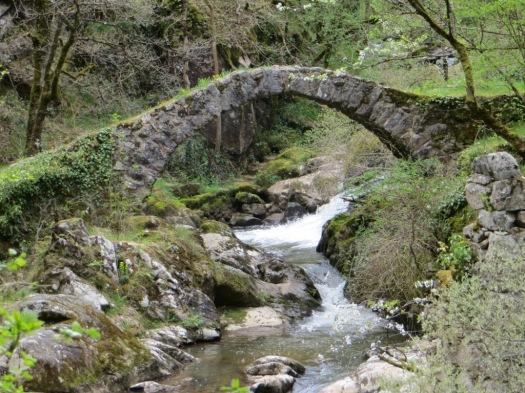Pont du Parayre over the River Audierne below Peyrusse-le-Roc  - an ancient mule and pilgrim track