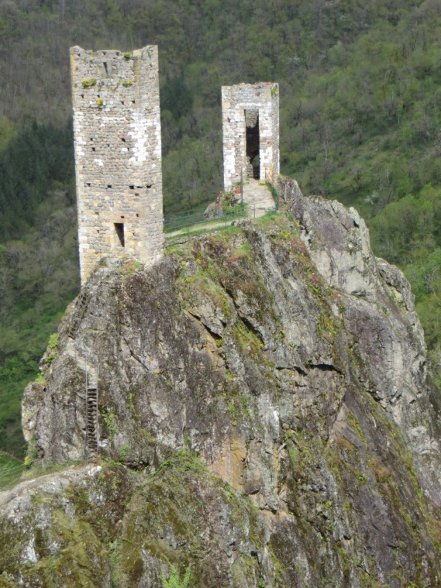 Twin towers of the château inférieur