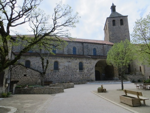 Village square - church built in the stables of the former royal château