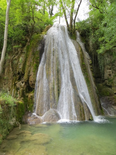 Petrified waterfall near Caylus