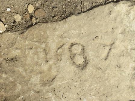 Gravestone dated 1687 - we think