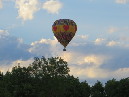 Montgolfier against the evening sky