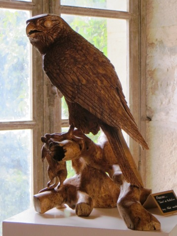 Carved hawk