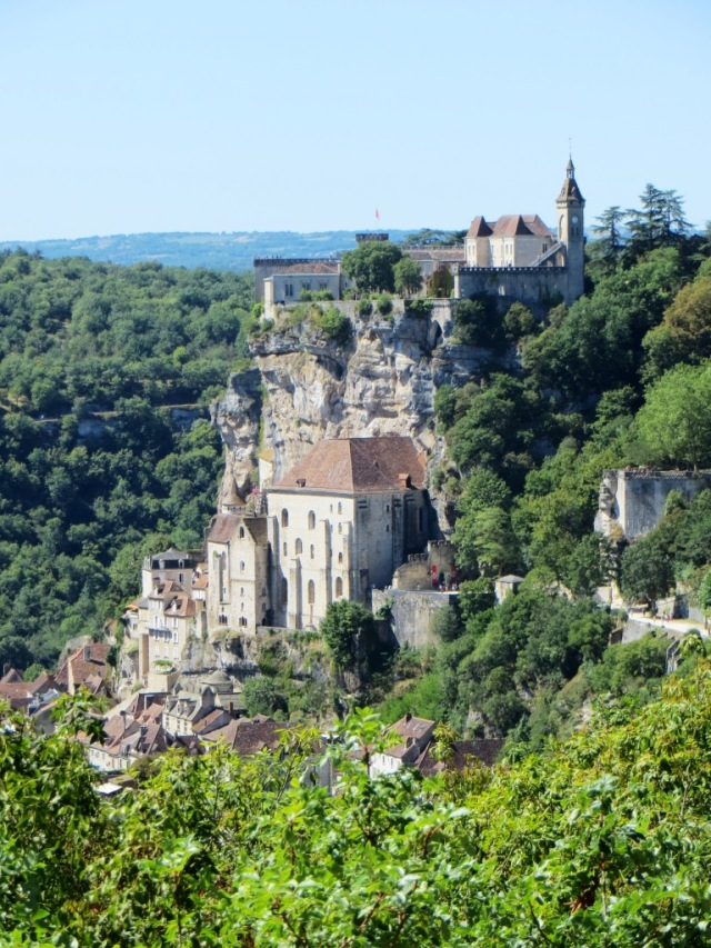 Rocamadour clinging to its cliff