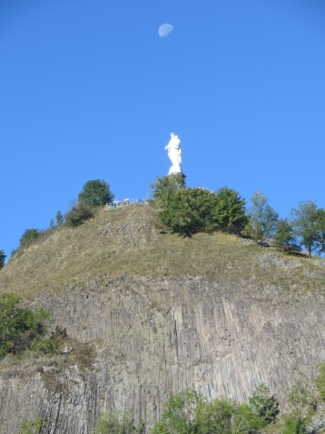 Statue of Virgin Mary above dominating Murat