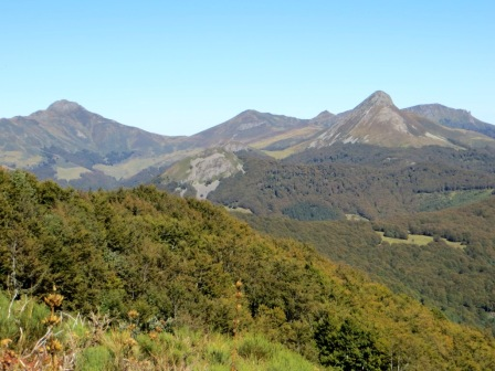 Monts de Cantal - Puy Mary (left) and Puy Griou (right)