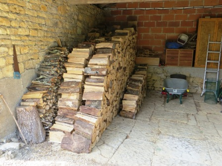 Wood pile ready for winter