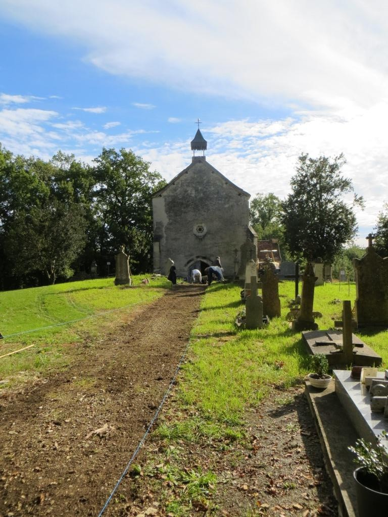 Chapelle de Teysseroles, in whose cemetery Monsieur C is buried