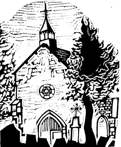 Drawing of chapel by James Burr