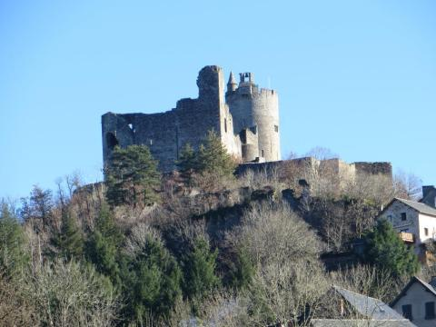 The château from the other side. The ruins more in evidence.