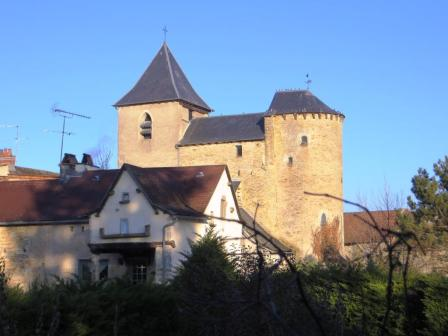 Fortified church at Saint-Grat