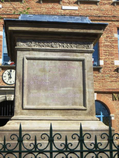 The empty plinth of Fermat's statue