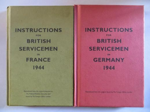 Instructions for servicemen in 1944: France and Germany