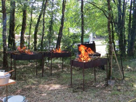 Grills blazing away merrily