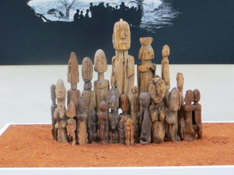 Group of ancestral Dogon carvings