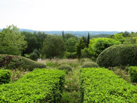 View from the top of the gardens over the countryside