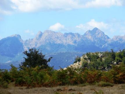 Corsican landscape: Les Aiguilles de Bavella