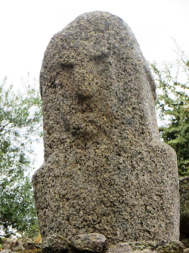 Filitosa IX - stern face captured in granite