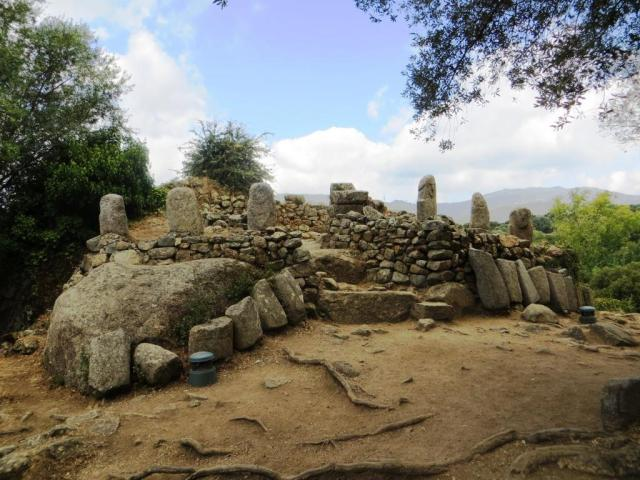 Remains of the torre, topped by megaliths, at Filitosa