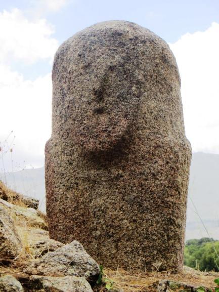 Stern warrior face at Filitosa