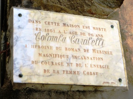 Colomba plaque in Olmeto