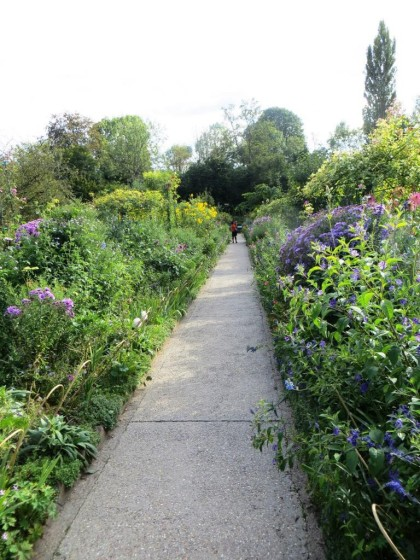 Border in the garden at Giverny