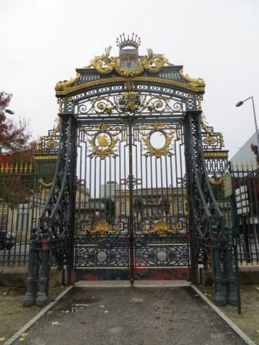 Ornate gateway at the Musée des Beaux-Arts