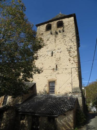 Tower of the fortified church at Lagarde Viaur
