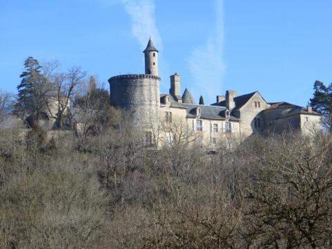 View of the façade of the château de Cornusson