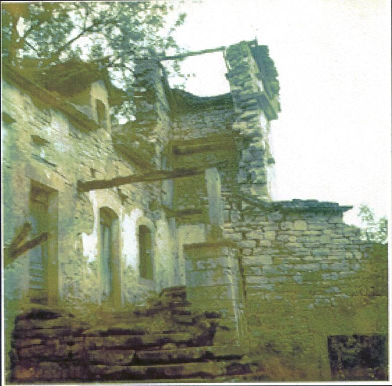 Bolet and pigeonnier before restoration in the early 1970s