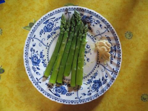New season's asparagus