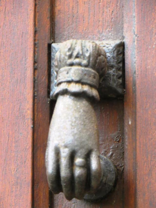 Common style of door knocker in SW France