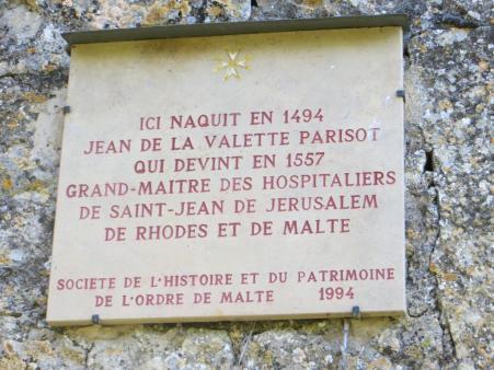 Plaque commemorating de La Valette's birth