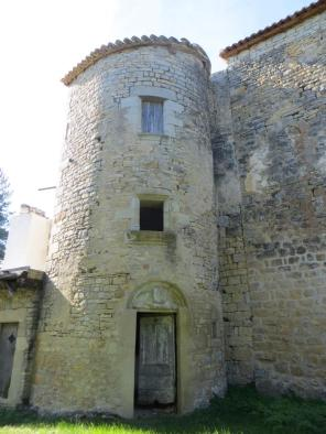 Tower containing spiral staircase