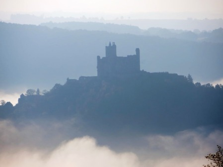 Najac floating above the valley