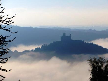 Najac in the mist