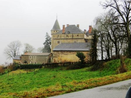 Château de Mazerolles on a damp February day
