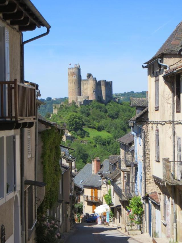 The château towering over the town