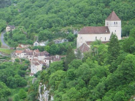 Church presiding over the lower village